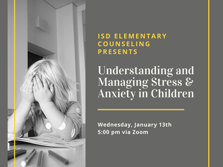 Elementary News: Understanding & Managing Stress in Children