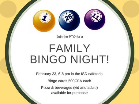 PTO Family Bingo Night