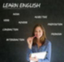 Learn English confident beautiful woman