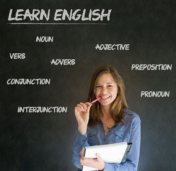 Learn English confident beautiful woman