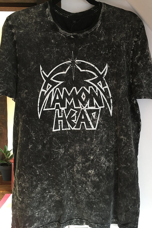 Men's Acid Wash Black Classic DH Logo Shirt