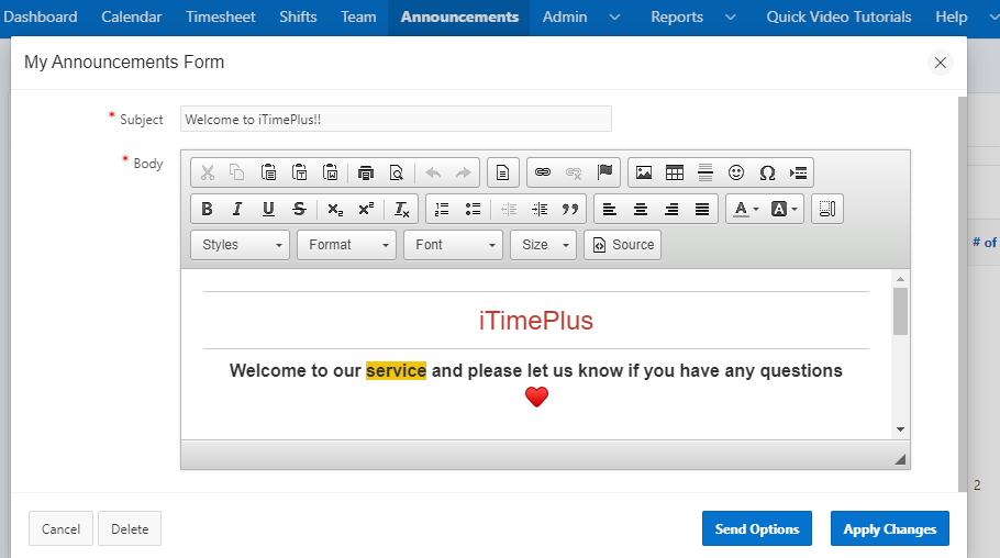 iTimePlus - Free Shift Schedule Maker