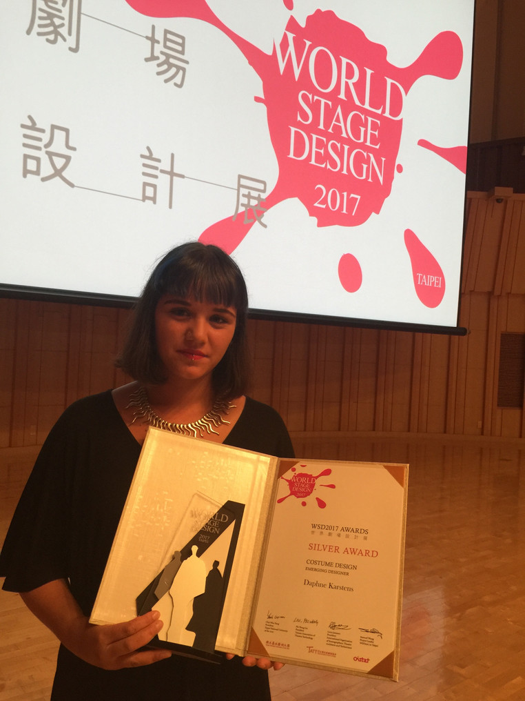Daphne Karstens wins Silver Award in Costume Design at World Stage Design 2017 in Taipei.