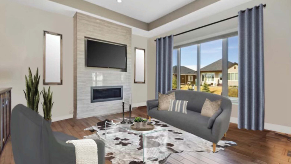 E-Design Visualizer   Home Staging for a Living Room