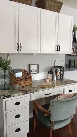 Small kitchen office.