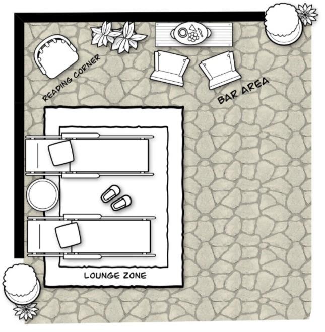 Floor Plan for Patio | E-Design Project