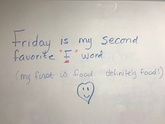 My favourite 'F' word is...Friday!