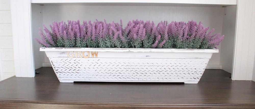DIY dollar store lavender planter for home decor