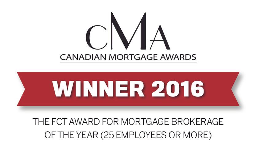 Canadian Mortgage Award 2016 Winner
