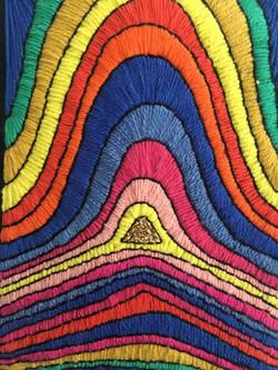 rainbow fingerprint detail