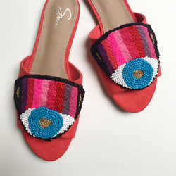 Eye rainbow sandals