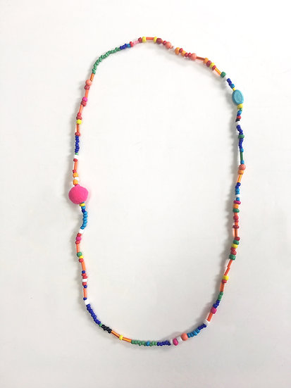 Mixed beads beaded necklace #6