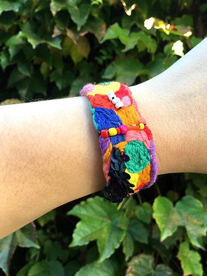Hand embroidered bangle - 1