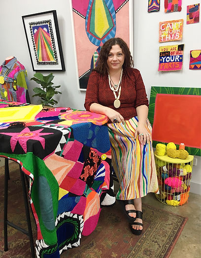 colourful artist studio