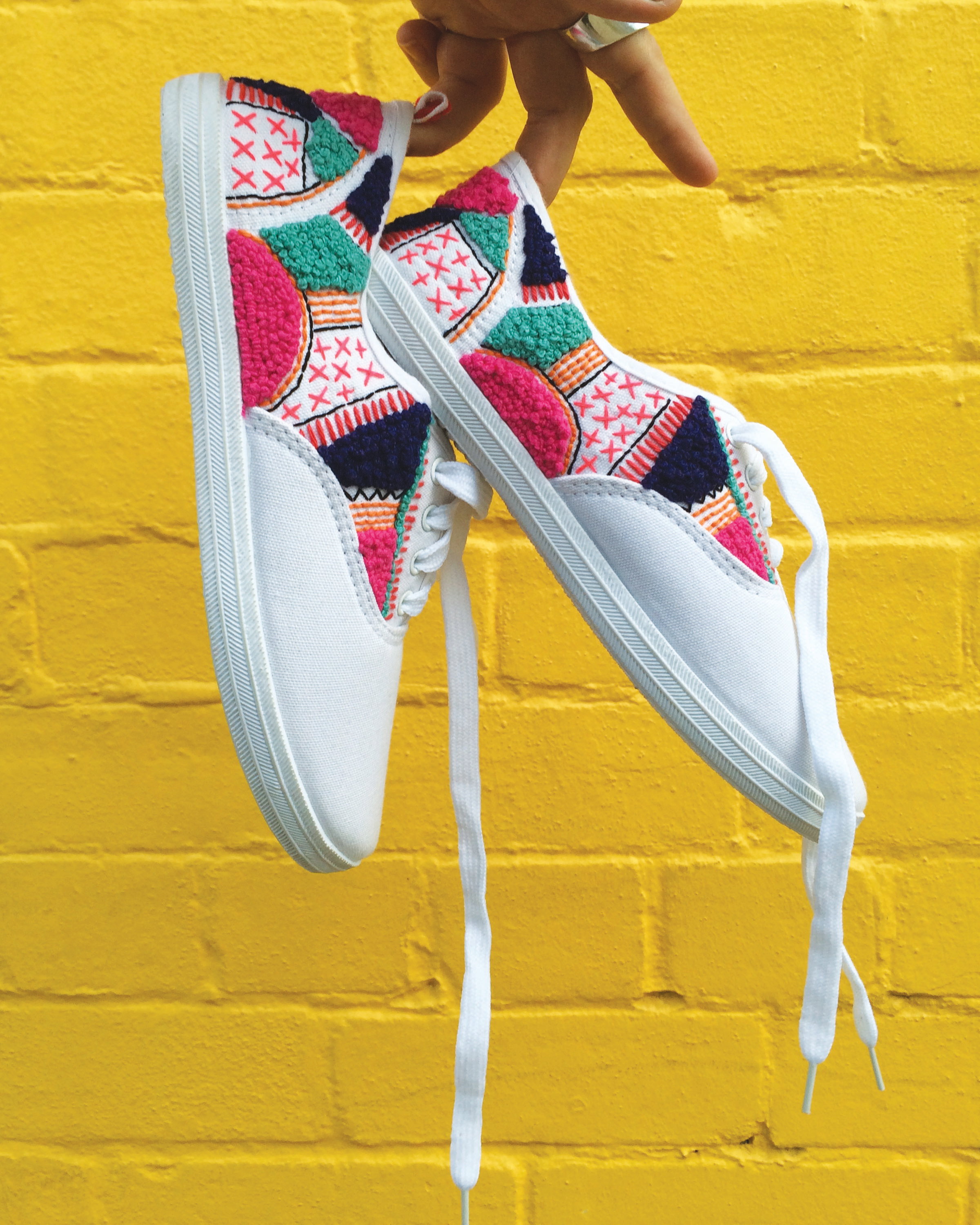 hand embroidered sneakers