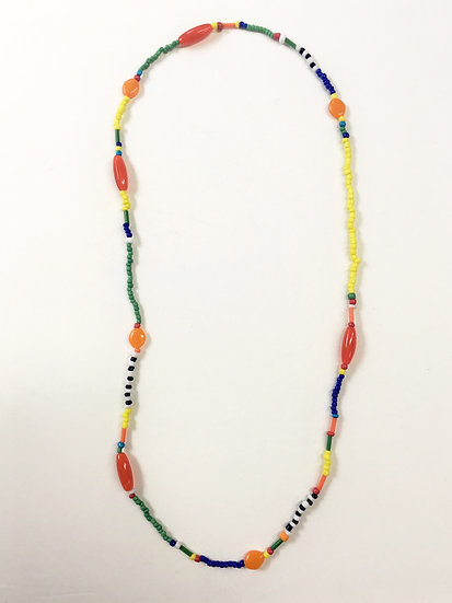 Mixed beads beaded necklace #7