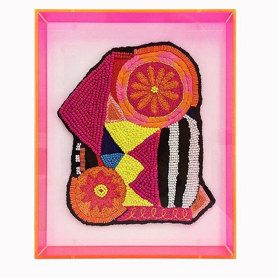 'Flowers, Stripes & Keepsakes' original artwork
