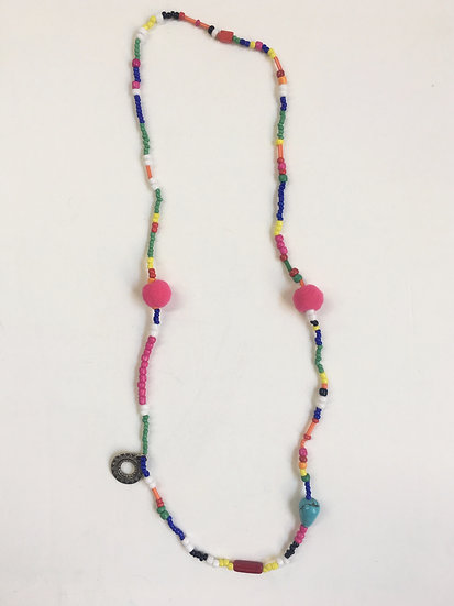 Mixed beads beaded necklace #5