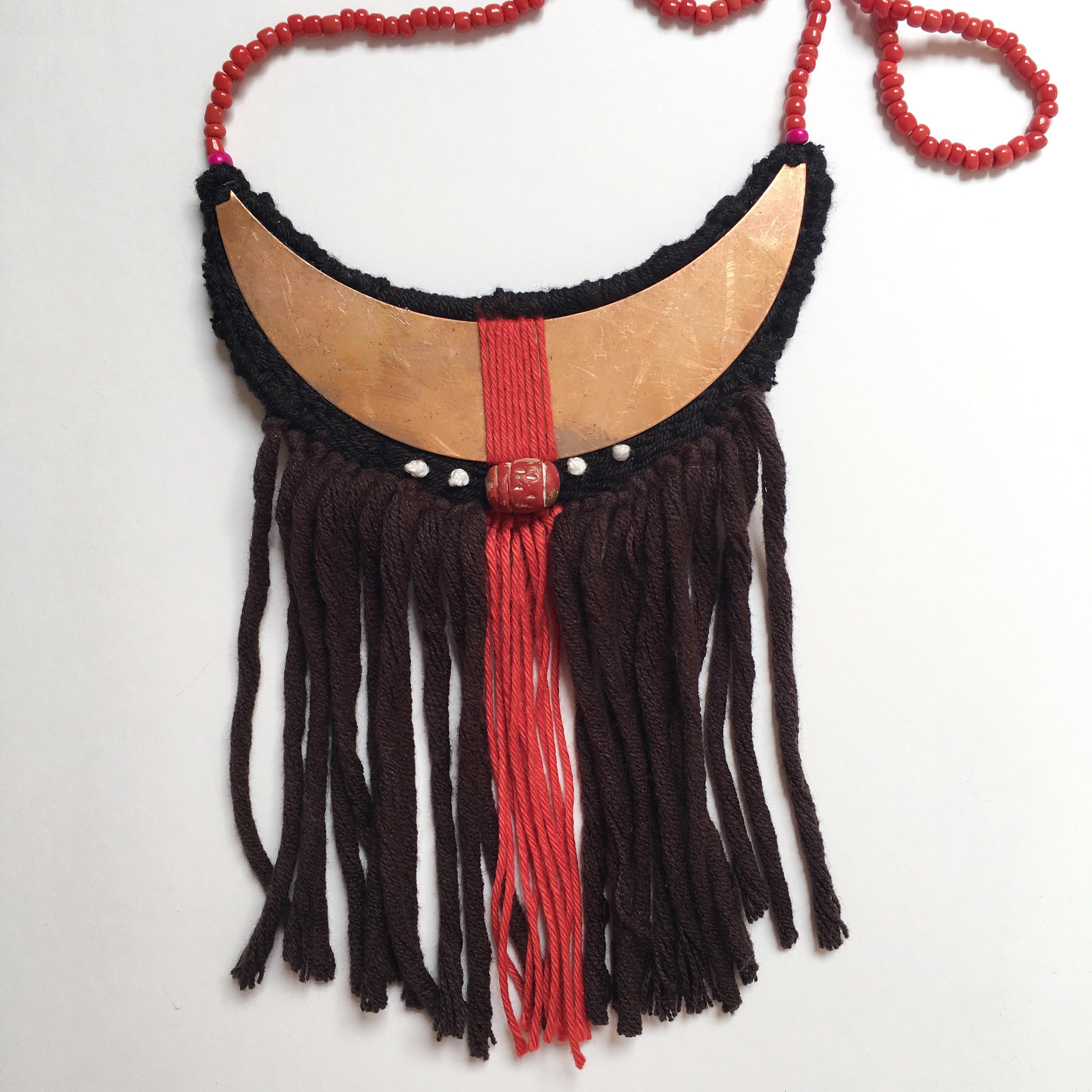 necklace fringed