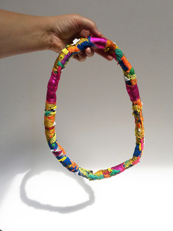 repurposed textile necklace