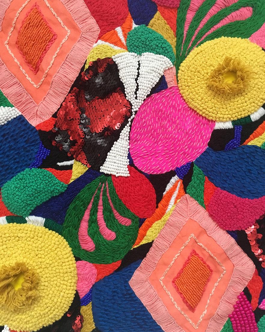 Liz Payne textile embroidery beading artwork