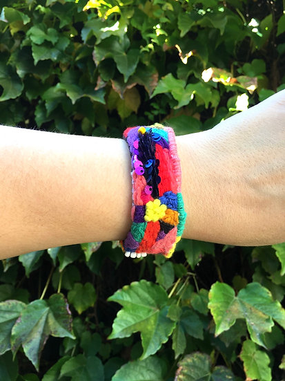 Hand embroidered bangle #5