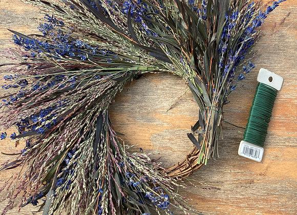WORKSHOP - Whimsical Grass and Fragrant Lavender Wreath - October 17
