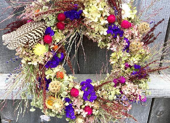 Vibrant Flower Garden Wreath