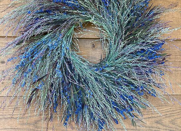 Fragrant Lavender Twirl Wreath