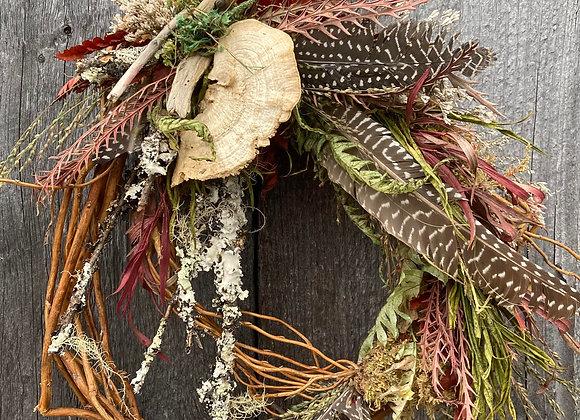 Foraged Feather + Stem Wreath