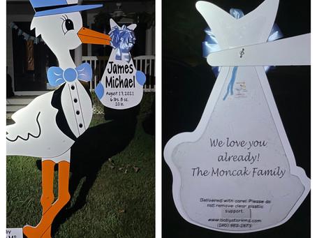 Baby Stork MD (240) 863-2873 ~ Baby Gift Idea ~ Potomac Maryland