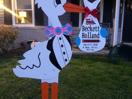 Baby Stork MD (240) 863-2873 ~ Choo Choo Birth Announcement ~ Maryland