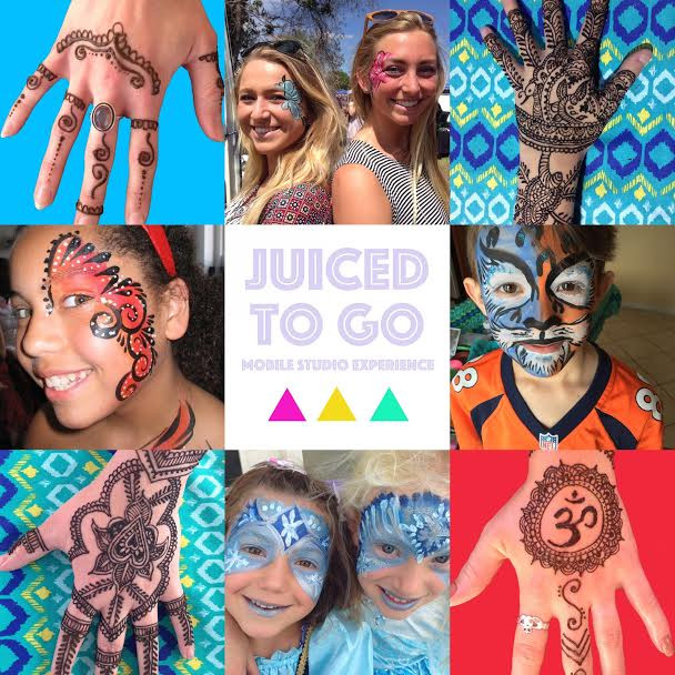 Behind the Scenes with Juiced To Go Mobile Studio Experience - Henna and Face Painting, Spring Marke