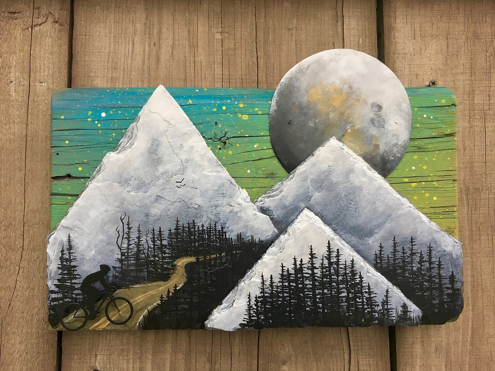 The moon and the mountains depicted by Basin Reclaimed