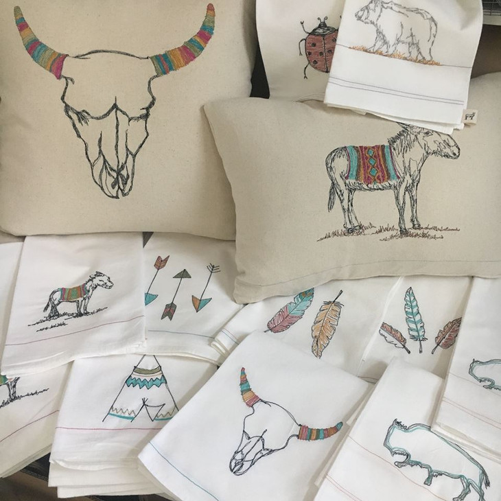 Leo's Dry Goods with Illustrations in Thread is Back for Spring Market as a Featured Artisan