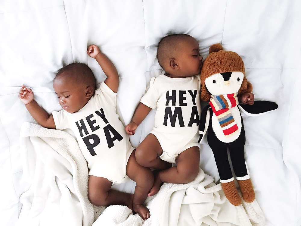 Hey Pa and Hey Ma Onesies by Urban Baby Co.