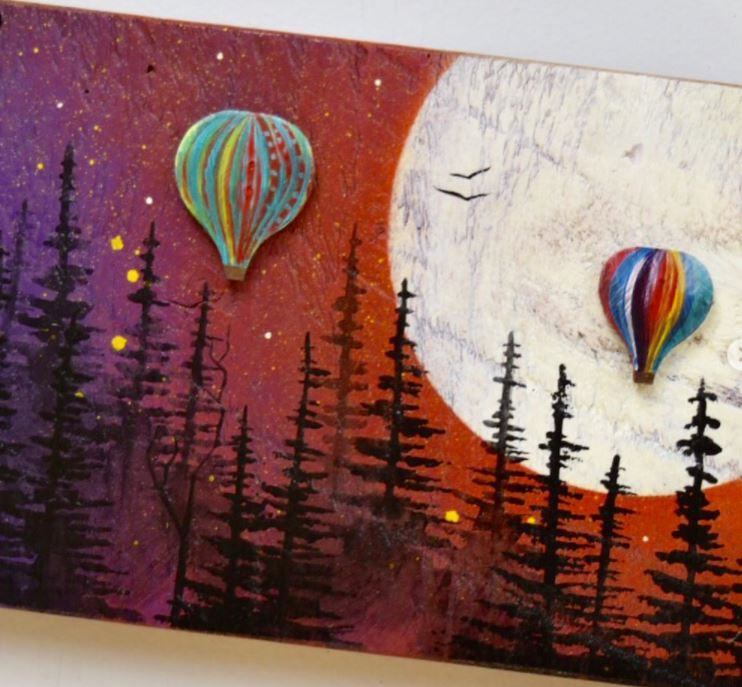 Hot air balloons by Basin Reclaimed