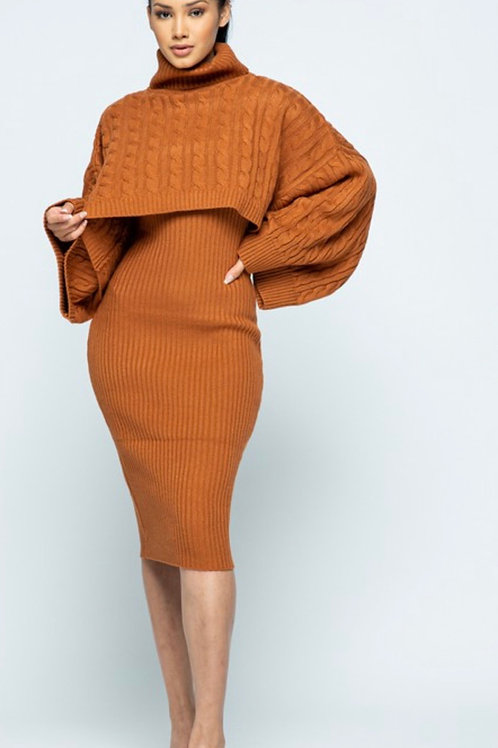 Cindy Sweater Dress (Rust)