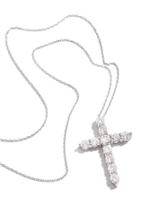 Bree Cross Necklace - Silver