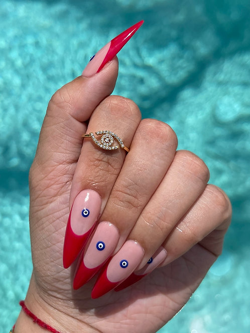 Evil Eye Ring - Gold