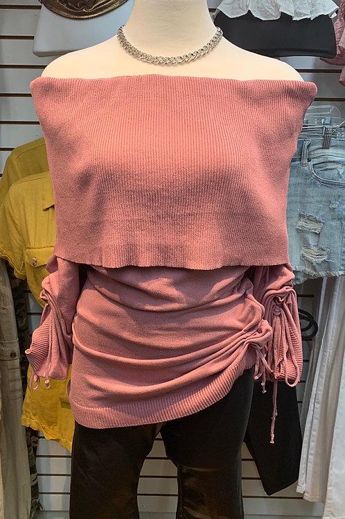 Michelle Sweater Top (Mauve)