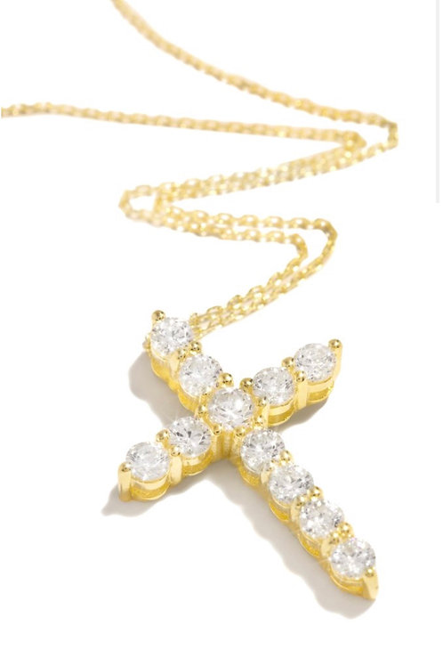 Bree Cross Necklace - Gold