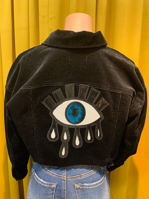 Evil Eye Crop Jacket