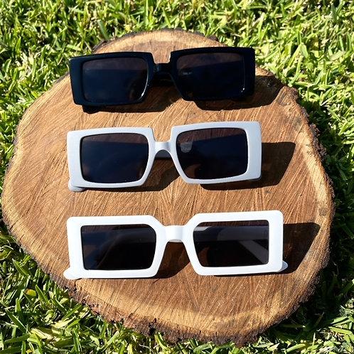 Kylie Square Sunglasses (White)