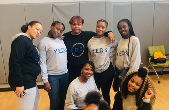 Y.E.D.S. volunteers at the Breaking The Bread Thanksgiving Community Event 2018