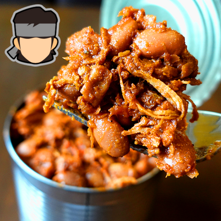SNAKE - Whiskey Baked Beans and Smoked Pork Ration