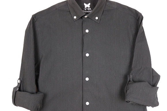 Black Seersucker Dress Shirt