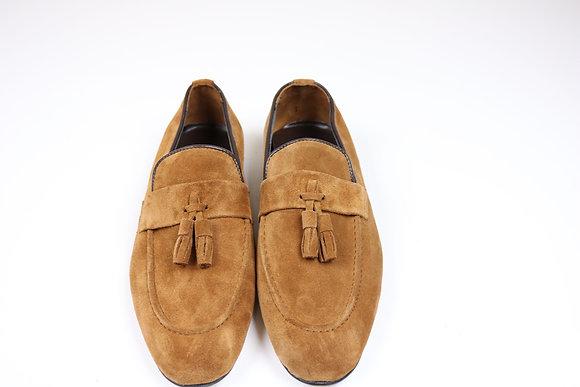 Brown Suede Tassel Loafer