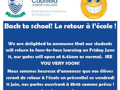 BACK TO SCHOOL / LE RETOUR À L'ÉCOLE