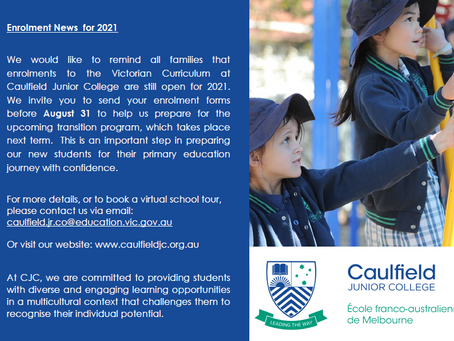 2021 ENROLMENTS TO THE VICTORIAN CURRICULUM